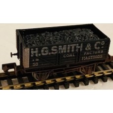 S3113NW - H G Smith & Co Weathered 7 Plank coal wagon  N Gauge