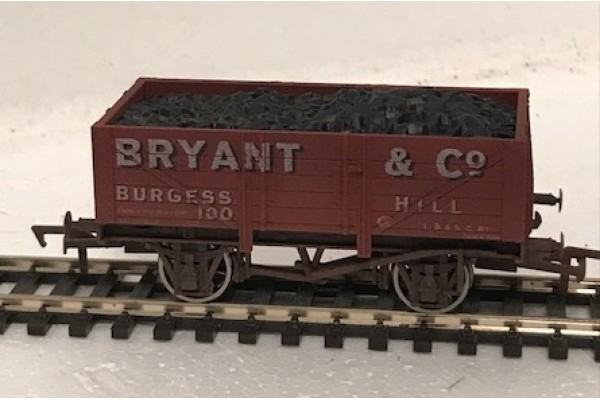 S2596W - Bryant & Co 5 Plank 00 Coal Truck (Weathered)
