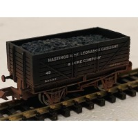 S3173NW - Hastings & St Leonards Gaslight & Coke Company  7 Plank RN49 N Gauge Weathered