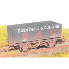 S2564W - Brentall & Cleland 7 Plank 00 Coal Truck (Weathered)