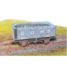 S2582W - Gow's of London 00 7 Plank Coal Truck (Weathered)
